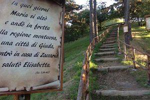 Sentiero delle Beatitudini del Santuario della Madonna della Guardia di Genova