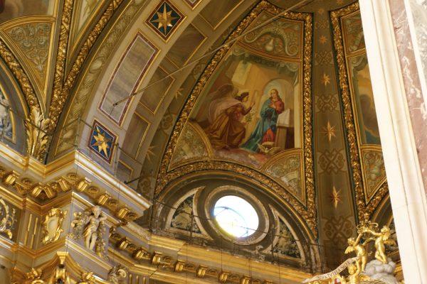 Affreschi della cupola del pittore L. Arzuffi