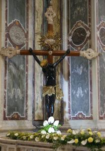 Cristo nero della Basilica del Santuario della Madonna della Guardia di Genova