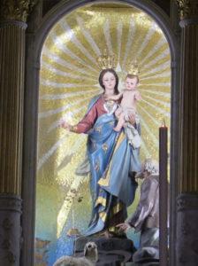 Statua lignea della basilica del Santuario della Madonna della Guardia di Genova