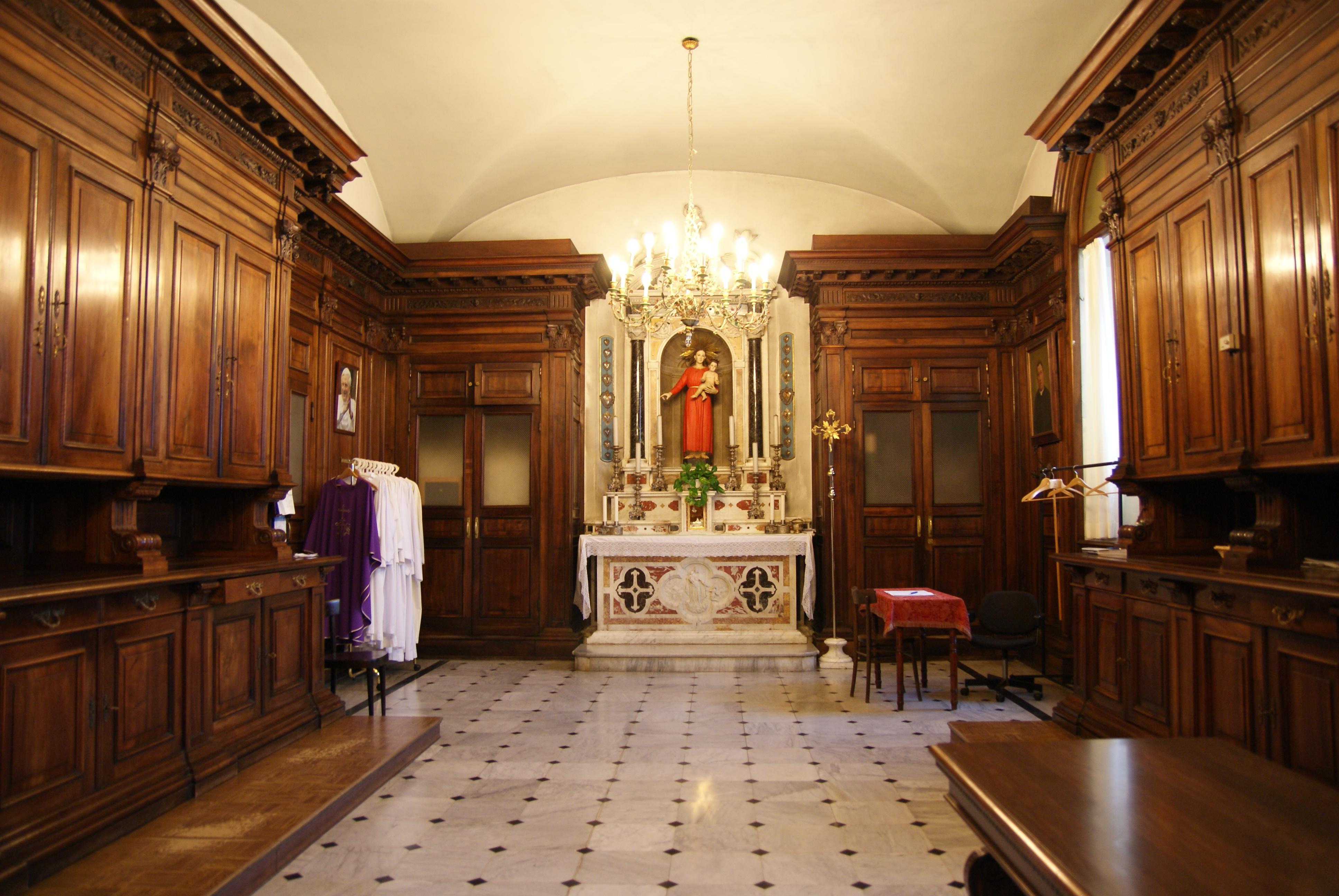 La sacrestia del Santuario della Madonna della Guardia di Genova